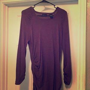 VS purple cotton L mid dress